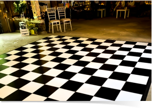 black and whire dance floor