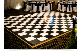 black and white dance floor hire wiltshire