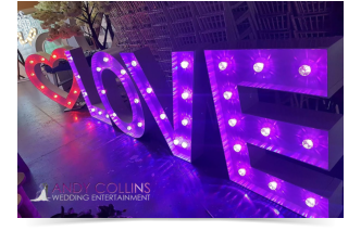 led light up love letter hire wiltshire