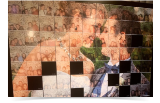 mosaic wall for weddings and events in Wiltshire
